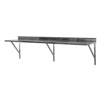 Prateleira e Suporte em Aço Inox Lisa - 1,20m (120x35 cm) - Brascool (SPMFPL124)