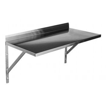 Prateleira e Suporte em Aço Inox Lisa - 0,69m (69x35 cm)