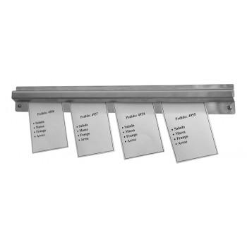 Porta Comanda / Display com Prendedor para Pedido em Aço Inox 100cm - Brascool Inox