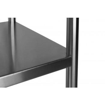 Detalhe  - Estante em Aço Inoxidável com 5 Prateleiras Lisas - 2,0m (200x50x200cm)