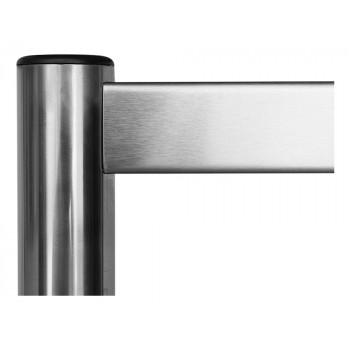 Detalhe lateral - Estante em Aço Inoxidável com 6 Prateleiras Lisas - 1,2m (120x50x200cm) - BE6-120L