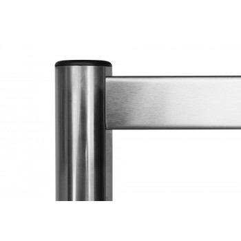 Proteção superior - Estante em Aço Inoxidável com 5 Prateleiras Lisas - 1,0m (100x50x200cm)