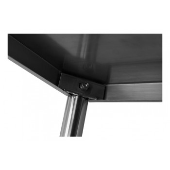 Encaixe - Mesa / Bancada de Apoio 100% Aço Inoxidável com Espelho - 2,2m (220x70x90cm) - BR-220C