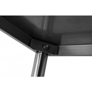 Detalhe Encaixe - Estante em Aço Inoxidável com 5 Prateleiras Lisas - 0,8m (80x50x200cm) - BE5-80L
