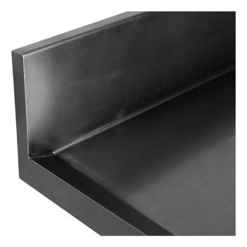 Espelho Perfil - Mesa Bancada Aço Inox com Paneleiro e Cuba 50x50x30 (Esq) 100x70x90 - Brascool