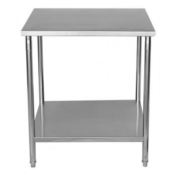 Frontal - Mesa / Bancada de Apoio 100% Aço Inoxidável - 1m (100x70x90cm) - BR-100S