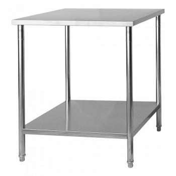 Mesa / Bancada de Apoio 100% Aço Inoxidável - 1m (100x70x90cm) - BR-100S