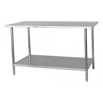 Perfil - Mesa / Bancada de Apoio 100% Aço Inoxidável - 1,5m (150x70x90cm) - BR-150S