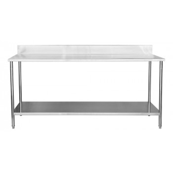 Mesa para Manipulação 100% Aço Inoxidável com Espelho - 2m (200x70x90cm) - BR-200C