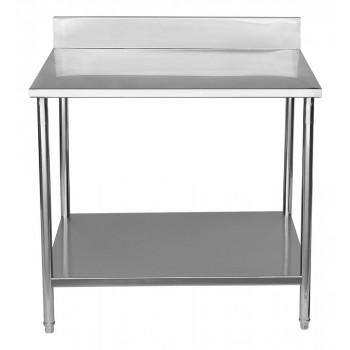 Frontal - Mesa para Manipulação 100% Aço Inoxidável com Espelho - 0,8m (80x70x90cm) - BR-080C