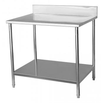Mesa para Manipulação 100% Aço Inoxidável com Espelho - 0,8m (80x70x90cm) - BR-080C