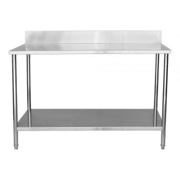 Perfil - Mesa Aço Inox / Bancada de Apoio com Espelho - 1,6m (160x70x90cm)