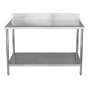 Perfil - Mesa / Bancada de Apoio 100% Aço Inoxidável com Espelho - 1,2m (120x70x90cm) - BR-120C