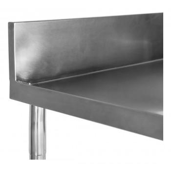 Espelho Perfil - Mesa Bancada Aço Inox com Paneleiro e Cuba 50x50x30 (Central) 100x70x90 - Brascool