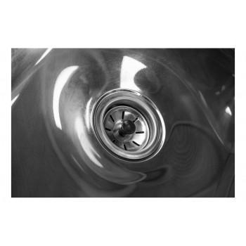Pia Aço Inox Industrial / Mesa com Cuba 50x40x30cm (Direito) - 100x70 cm - Brascool Ralo