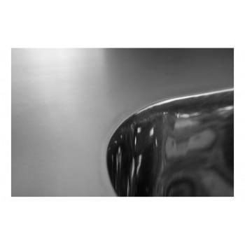 Cuba detalhe - Mesa Bancada com pia em Aço Inox com Cuba 50cm (Esquerdo) - 100x70 cm perfil