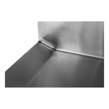 Canto - Mesa Bancada com pia em Aço Inox com Cuba 50cm (Esquerdo) - 100x70 cm perfil