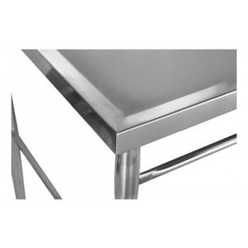 Pia Aço Inox Industrial / Mesa com Cuba 50x40x30cm (Direito) - 100x70 cm - Brascool Canto Bancada