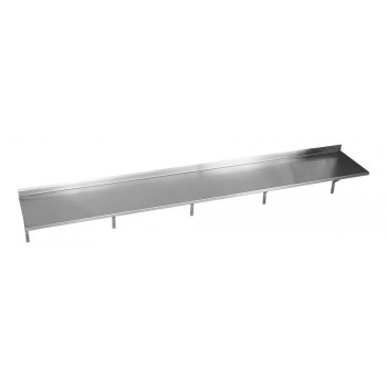 Perfil - Prateleira e Suporte em Aço Inox Lisa - 2,00m (200x35 cm) - Brascool (SPMFPL200)