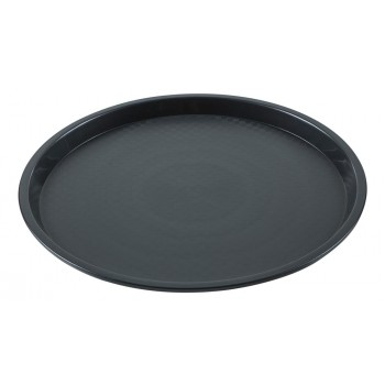 Bandeja Redonda (Preta) de Plástico (36,2x2 cm) - Brascool (JD-1610)