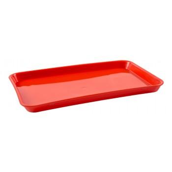 Bandeja Retangular (Vermelha) de Plástico (30x20,5x2 cm) - Brascool (JD-1011)
