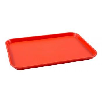 Bandeja Retangular (Vermelha) de Plástico (34,3x26,5x2 cm) - Brascool (JD-1014)