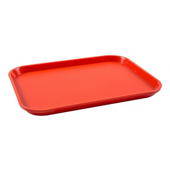 Bandeja Retangular (Vermelha) de Plástico (37,5x27,5x2 cm) - Brascool (JD-1115)