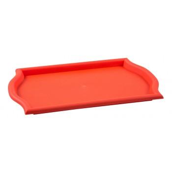 Bandeja Retangular (Vermelha) de Plástico (45x30x2,5 cm) - Brascool (JD-1219)