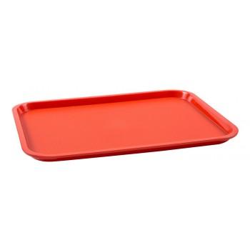 Bandeja Retangular (Vermelha) de Plástico (45x30x2 cm) - Brascool (JD-1218)