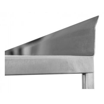 Espelho - Prateleira e Suporte em Aço Inox Lisa - 1,20m (120x35 cm) - Brascool Inox (SPMFPL124)