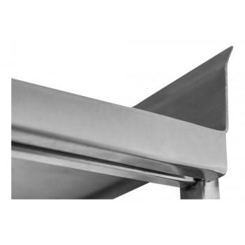 Lateral - Prateleira e Suporte em Aço Inox Lisa - 1,20m (120x35 cm) - Brascool Inox (SPMFPL124)