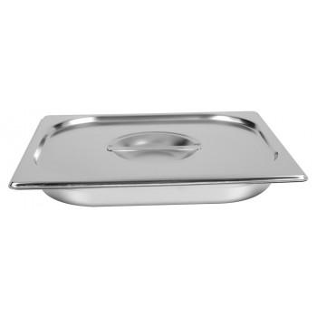 Fechada - Cuba Gastronômica Aço Inox com Tampa GN 1/2 × 40mm (325x265mm) - 812-40/812-L