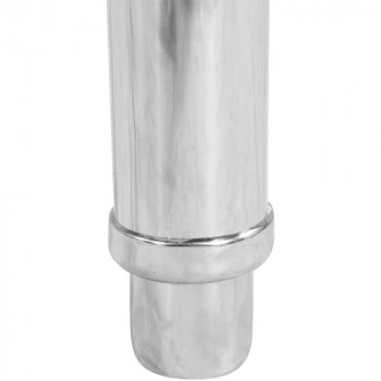 Mesa Bancada com pia em Aço Inox com Cuba 50cm (Direito) - 100x70 cm pé