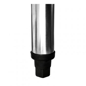 Pés - Bancada Aço Inox com Uma Cuba Lado Direito 50x40x25cm - 200x70x90cm - Brascool