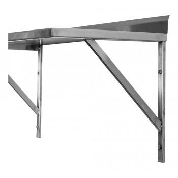 Alças - Prateleira e Suporte em Aço Inox Lisa - 2,00m (200x35 cm) - Brascool (SPMFPL200)