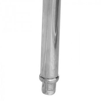 Pés - Mesa Pia Aço Inox Industrial com Paneleiro e Uma Cuba 50x50x30cm (Central) - 190x70x90cm