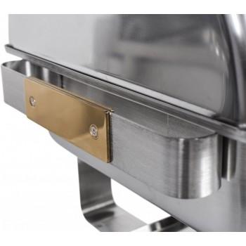 Alça lateral - Rechaud Aço Inox com Tampa Giratória e 2 Cubas (GN 1/2×100mm) - 13 Lts (Versão TOP) - 933-W900-2B