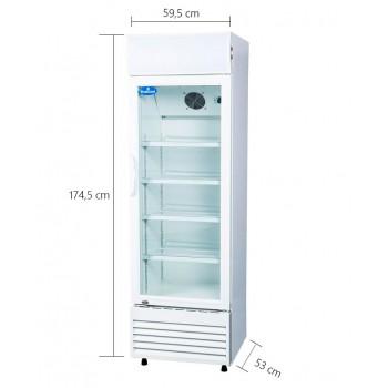 Medidas - Geladeira / Refrigerador Expositor Porta de Vidro 260 Lts (Visa Cooler) - LG-260