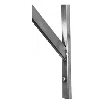 Alças detalhe - Prateleira e Suporte em Aço Inox Lisa - 2,00m (200x35 cm) - Brascool (SPMFPL200)